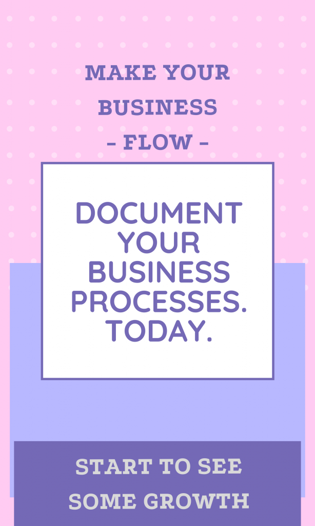 document your business processes